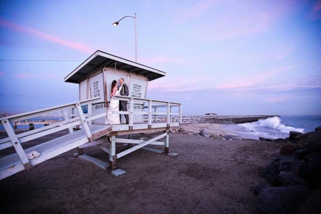 cabrillo beach bathhouse wedding photographer, san pedro